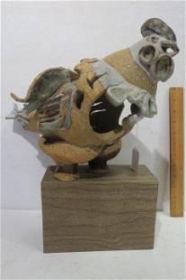 GLORIA MARTIN Pottery Chicken Figurine: