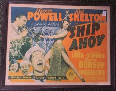 1942 Half Sheet Poster for SHIP AHOY: