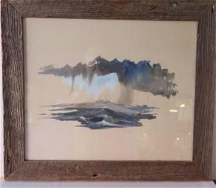 Signed HERB JONES Seascape Watercolor:
