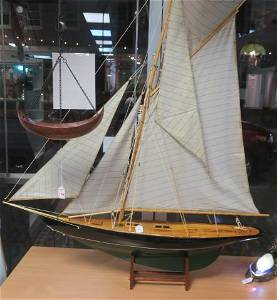Model of J Class America Cup Racer, Pond Boat: