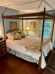Mahogany Canopy Bedroom Set