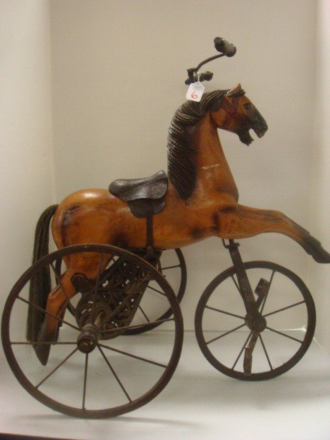 6: Child's Classic Horse Velocipede: