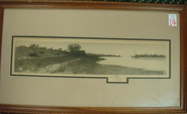 14: 1890 Pencil Signed Steel Engraving with Remarque.