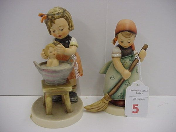 5: Hummel Doll Bath and Little Sweeper: