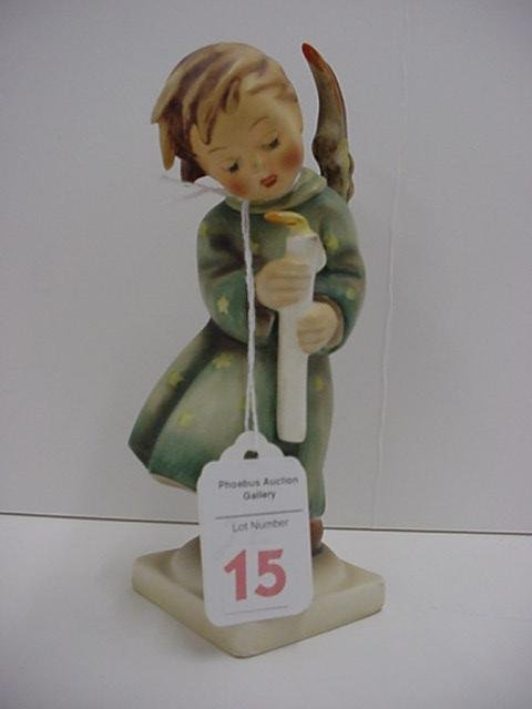 15: Hummel Heavenly Angel and Merry Christmas Plaque: