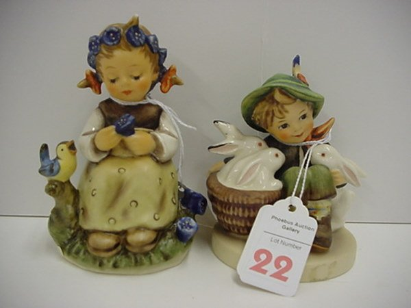 22: Hummel Botanist and Playmates Figurines:
