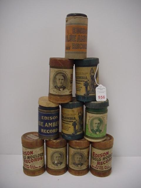 956: 12 Phonograph Cylinders: