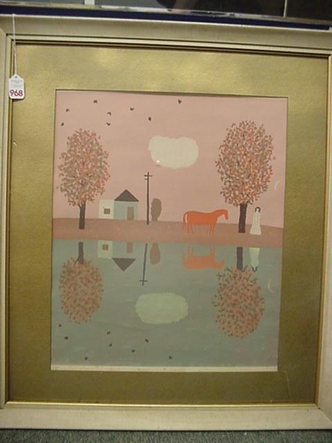 968: DORIS LEE, Pencil Signed Color Lithograph: