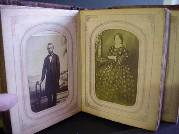 969: Painted Cloth Bound Miniature Photo Album: