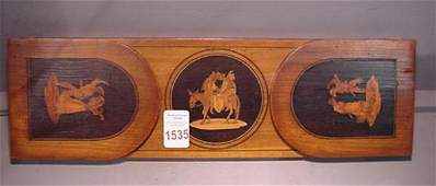 1535: Desktop Inlaid Expandable Wooden Bookends: