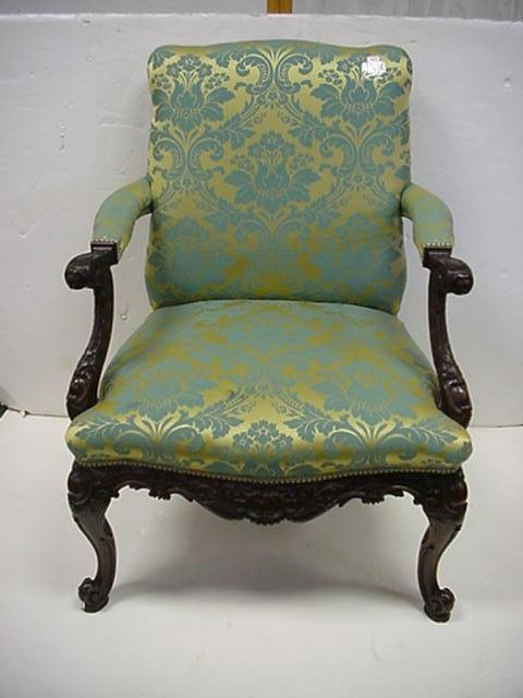 1553: Pair of 19thC Chippendale Style Armchairs: