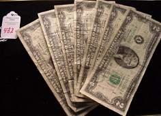 432: 8 Two Dollars Bills, Series 1976