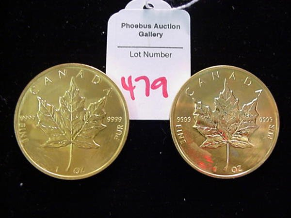 479: 2 Alterated 1989 Canadian 5 Dollar Silver Coins: - 2