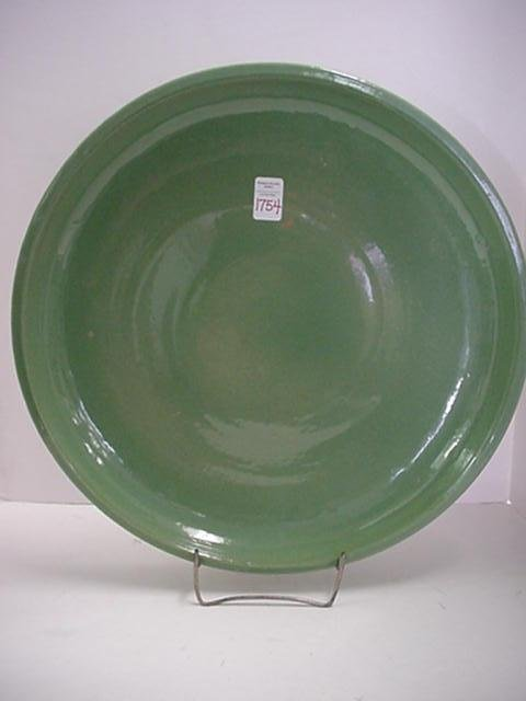 1754: Large Moss Green McCoy Charger: