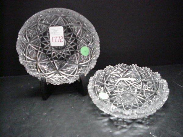 1772: Pair of Cut Glass Bowls:
