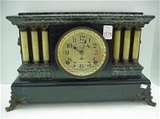 Seth Thomas Faux Marble Enameled Mantle Clock
