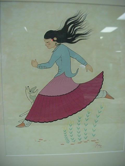 1965: Signed Navajo Artist B YAZZ Watercolor: