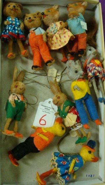 6: Ten WAGNER Handmade Kunstlerschutz Animals: