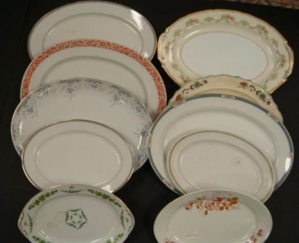 8: Ten Vintage Porcelain Serving Platters: