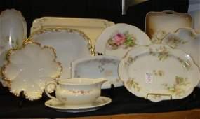 9: Ten Floral Decorated Porcelain Pieces: