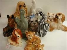 10: Ten Ceramic, Glass & Composition Animal Figurines: