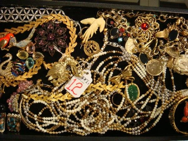 12: Rhinestone, Goldtone and Bead Jewelry: