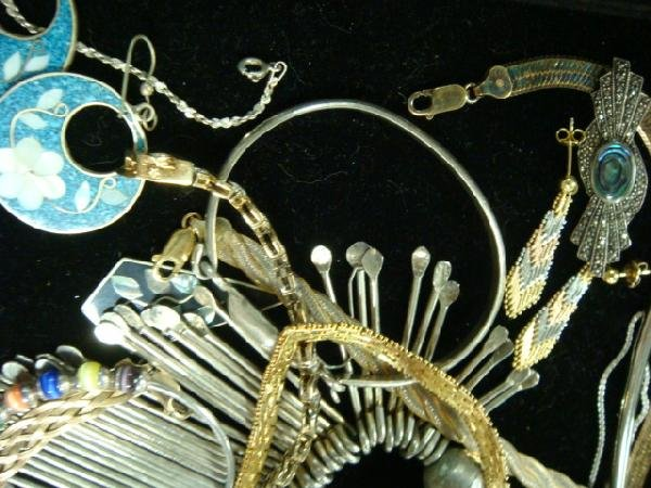 14: Sterling Silver, Silver Tone and Vermeil Jewelry: