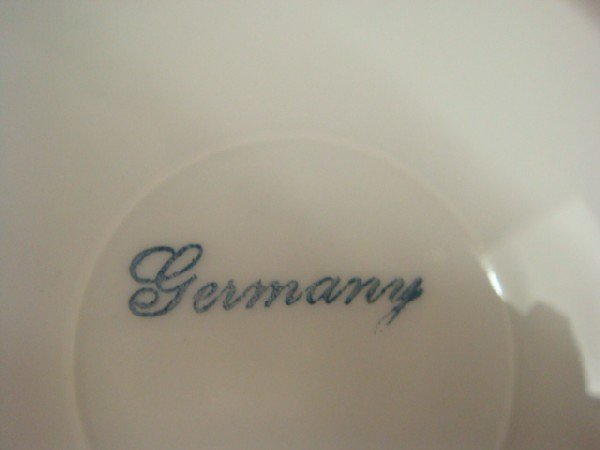 17: Handpainted Glass Pokal, SPODE Vase, German Bowl: - 5