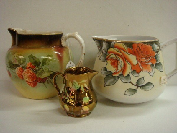 18: Nippon and MAYER Ceramic Pitchers, WADE Creamer: