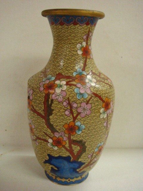22: Chinese Cloisonné Vase: