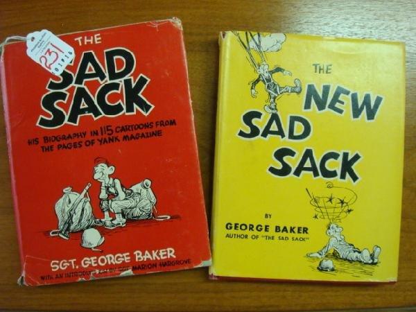 231: GEORGE BAKER 2 Sad Sack Cartoon Books: