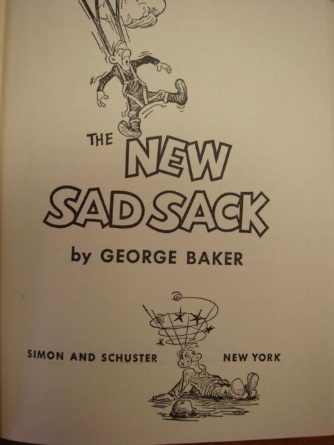 231: GEORGE BAKER 2 Sad Sack Cartoon Books: - 2