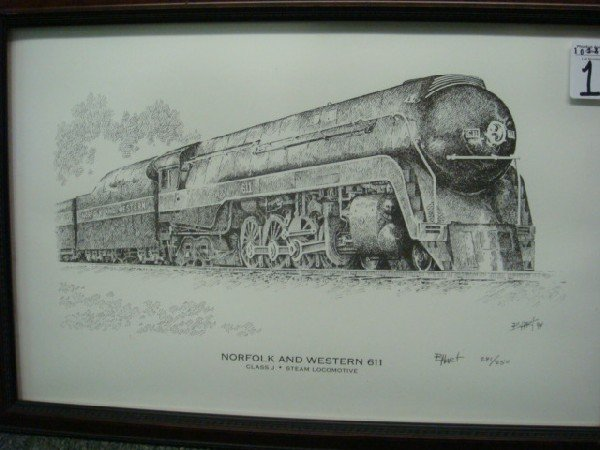 1: Pencil Signed, Numbered B HART Steam Engine: