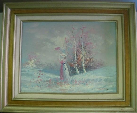 6: Signed RANDALL Landscape Oil on Canvas: