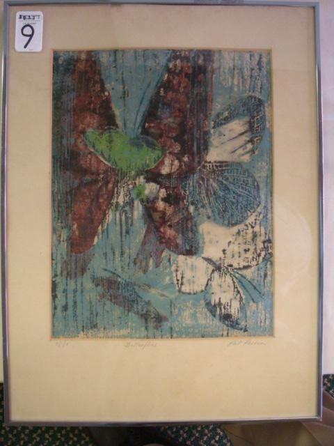 9: Signed PAT PERRIN Batik Butterfly: