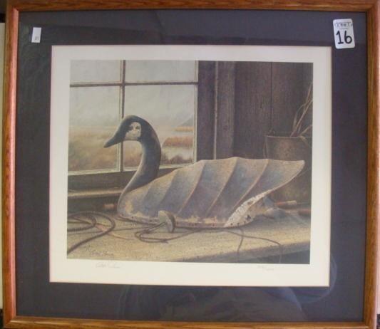 16: Signed BOB PRICE Duck Decoy Print: