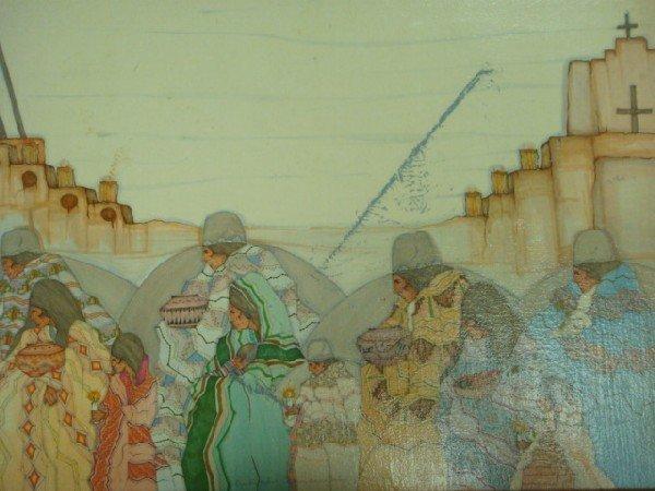 17: AMADO PENA Print on Canvas, Native American Art