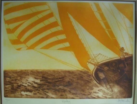 20: Signed and Numbered Sailboat Print: