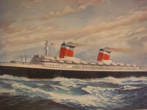 37: T C SKINNER Print of Steamship United States: - 2