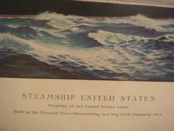 37: T C SKINNER Print of Steamship United States: - 3