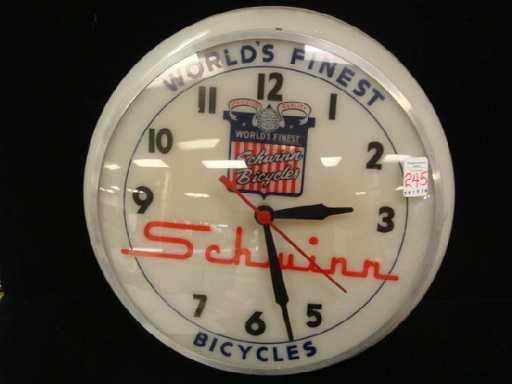 245 Dualite Display 1950 S Schwinn Bubble Wall Clock