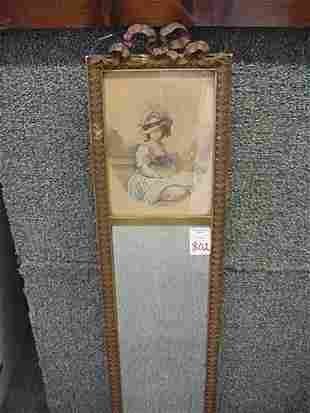 Bow Top Framed Victorian Portrait with M