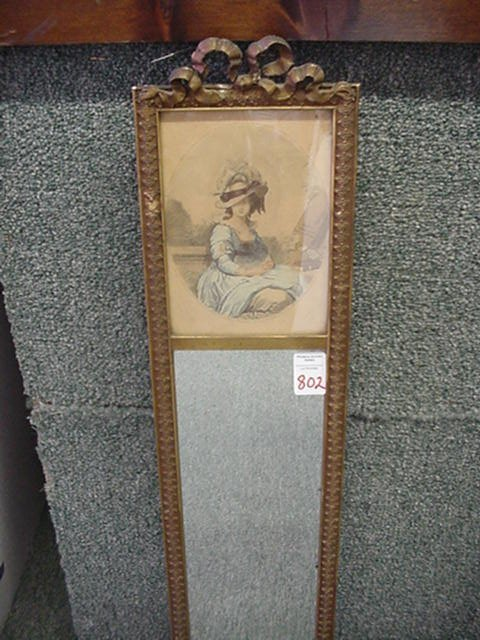 802: Bow Top Framed Victorian Portrait with M