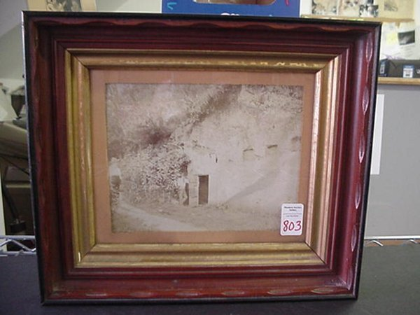 803: 1800's Mining Photo in Deep Victorian Fr