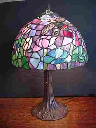 Tiffany Style Stained Glass Dragon Fly L