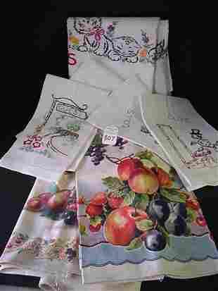 Vintage Handwork Fancy Embroidered Linen