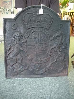 Cast Iron House Marker W/English Royal C