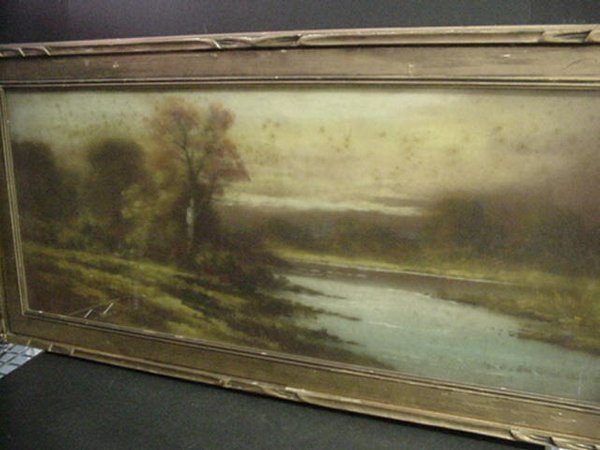 810: Early Century Framed Pastoral Chalk Draw