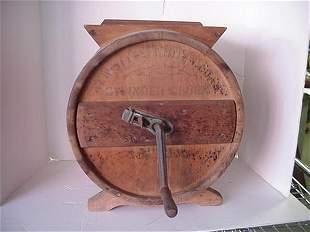 Wooden Barrel Butter Churn: White Cedar