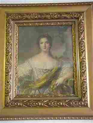 Madam Pompadour Style Victorian Framed P